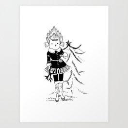 Winter princess Art Print