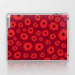 Maroon Poppy Laptop & iPad Skin