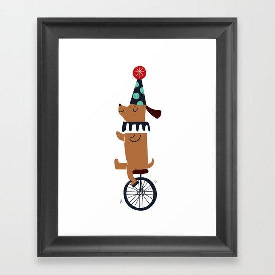 circus dog Framed Art Print