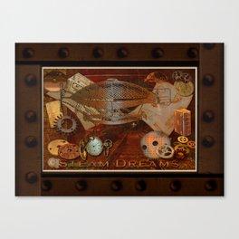 Steam Dreams - Steampunk Theme Canvas Print