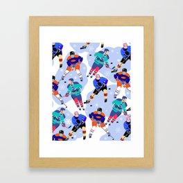 Ice Hockey print 001 Framed Art Print