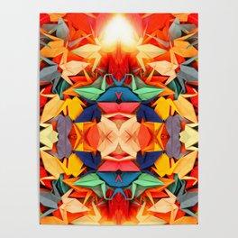 Senbazuru rainbow Poster