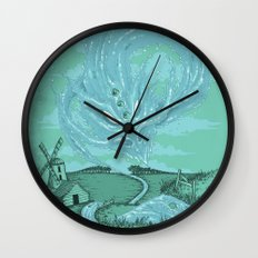 The River's Fierce Ascension Wall Clock