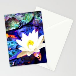 Electrifying Lotus Stationery Cards