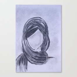 Girl with Head Scarf Canvas Print