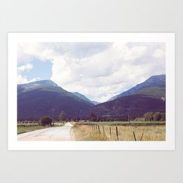 Montana Back Roads Art Print