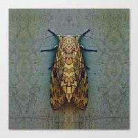 moth Canvas Prints featuring Moth by Zandonai