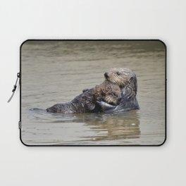 sea otter hug Laptop Sleeve
