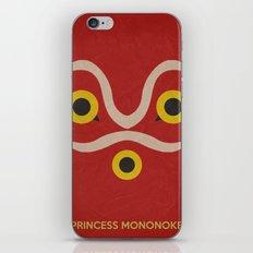 Princess Mononke Minimalist Poster iPhone & iPod Skin