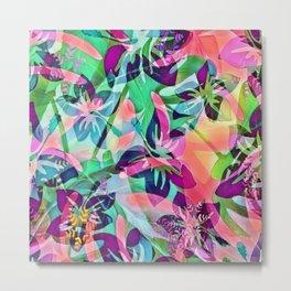 Trendy Floral Mix 818B Metal Print