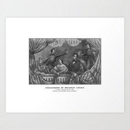 Assassination of President Lincoln Art Print