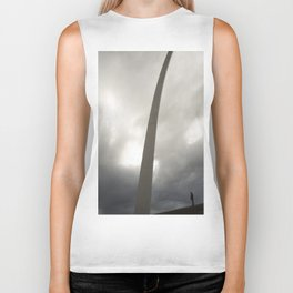 Gateway Arch with figure Biker Tank
