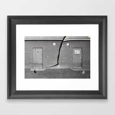Concrete vs Abstract Framed Art Print