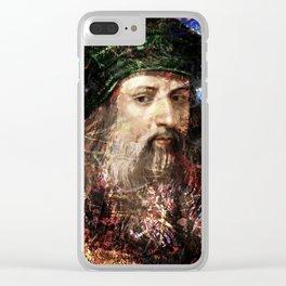 LEONARDO DA VINCI Clear iPhone Case