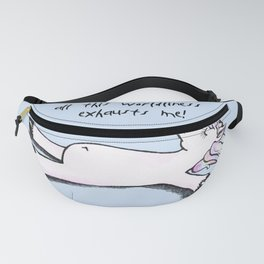 exhausted unicorn (blue) Fanny Pack