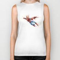 spider man Biker Tanks featuring Spider-Man by Nicola Girello