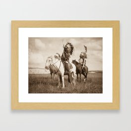 Sioux chiefs by Edward S Curtis 1905 Framed Art Print
