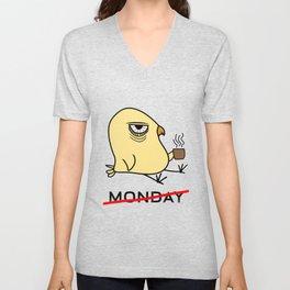I Hate Monday Early Bird Coffee Lover Ornithologist Gift Unisex V-Neck