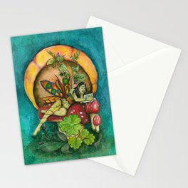 Belladonna the reading fairy Stationery Cards