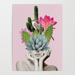 Cactus Lady Poster