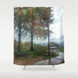 Rest Stop Shower Curtain