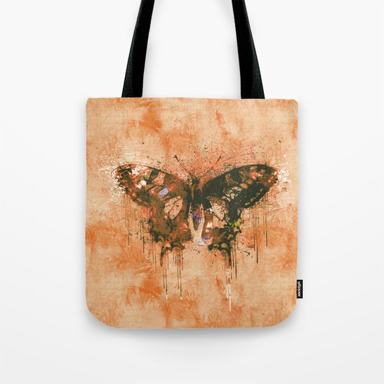 artistic watercolor butterfly painting artwork Tote Bag