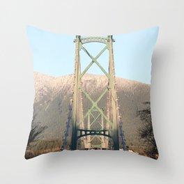 Lions Gate Bridge Throw Pillow