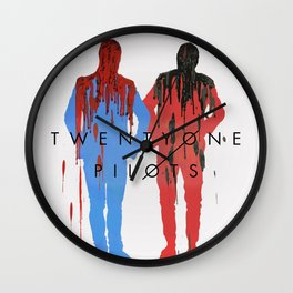 crayon drips- poster design Wall Clock