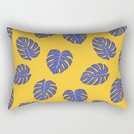 Monstera trendy - yellow purple Rectangular Pillow