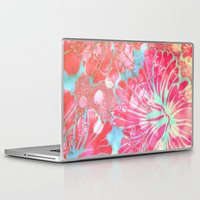 aelwen Laptop & iPad Skins featuring Blue Water Hibiscus Snowfall by Vikki Salmela