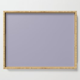 Light Pastel Purple Solid Color Inspired By Valspar America Lavender Lake 4001-5C Serving Tray