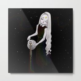 Galaxy colors rainbow goddess Metal Print