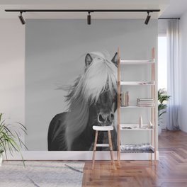 Portrait of a Horse in Scotish Highlands Wall Mural