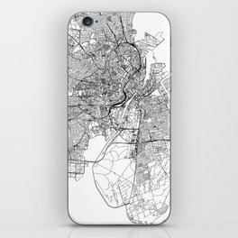 Copenhagen White Map iPhone Skin