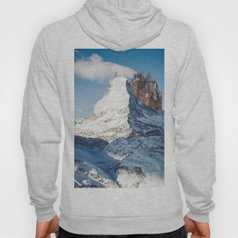 Castle on the Hill Matterhorn and Burg Eltz Castle in Germany Hoody