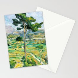 12,000pixel-500dpi - Paul Cezanne - Mont Sainte-Victoire and the Viaduct of the Arc River Valley Stationery Cards