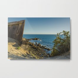 The End of the Fence Metal Print