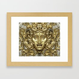 """Ancient Golden and Silver Medusa Myth"" Framed Art Print"