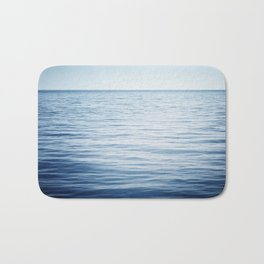 Blue Ocean Seascape, Dark Blue Sea Landscape Photography, Ocean Horizon Bath Mat