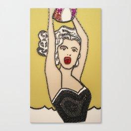 034: Lichtenstein Girl with Ball - 100 Hoopties Canvas Print