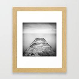 Step off the ledge Framed Art Print