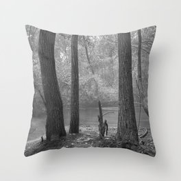 """""""Sit down and enjoy into the mist, don´t be afraid of dreaming...."""" Throw Pillow"""