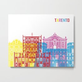 Tarento skyline pop Metal Print