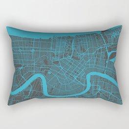 New Orleans Map blue Rectangular Pillow