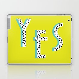 YES Poster | Lime Dalmatian Pattern Laptop & iPad Skin
