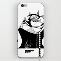 majoras mask iPhone & iPod Skins featuring Mask by WeSR