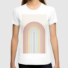 Minimalist colorful rainbow lines  T-shirt