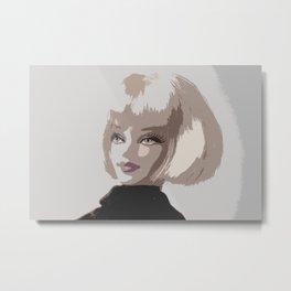 Femme Fatale Portrait Metal Print