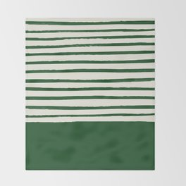 Holiday x Green Stripes Throw Blanket
