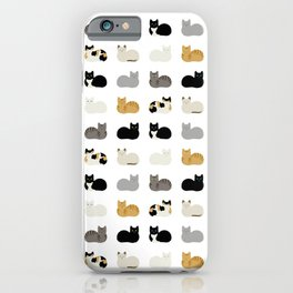 Cat Loaf 2 - White Ground iPhone Case